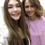 Maryana Naumova in Siria con Asma al-Assad