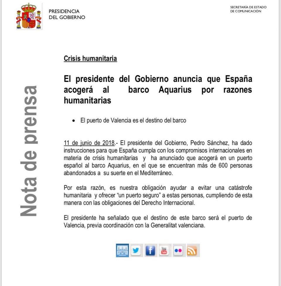 governo socialista di Pedro Sánchez