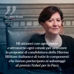 Trenta, Ministro della Difesa: alla Marina Militare premio nobel per la pace